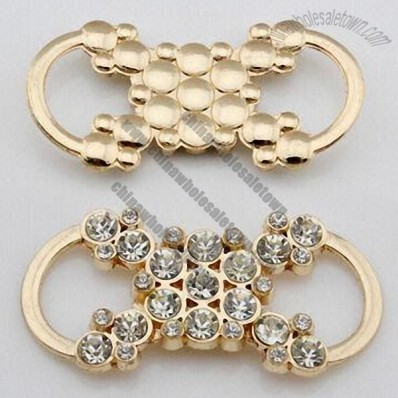 Gold-plated alloy garment small buckle with China A stones