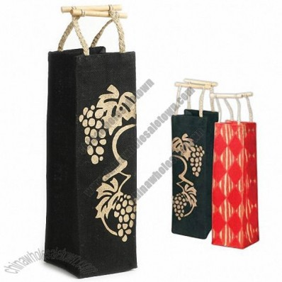 Golden Harvest Wine Bottle Tote