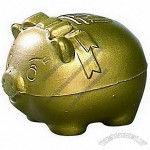 Golden Piggy Bank Stress Ball