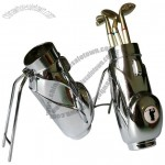 Golf Bag Pen Holder with 3 Golf Club Pens Gift Set