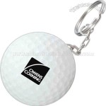 Golf Ball Key Chain Stress Ball