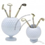Golf Ball Pen Holder with Three Pen