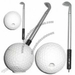 Golf Ball Pen with Pen Stand