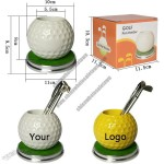 Golf Ball Shaped Pen Holder