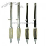 Golf Clip Pen - Metal Ballpoint Pen with Rubber Grip