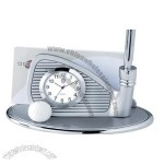 Golf Club Clock Business Card Holder