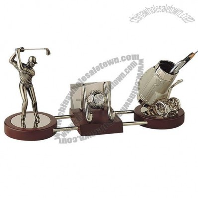 Golf Gift Pen Holder With Name Card Holder