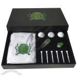 Golf Gift Set with Towel, Ball, Hat Clip, Divot Tool, Golf Tee