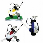 Golf Pen Holder with Clock and Speaker