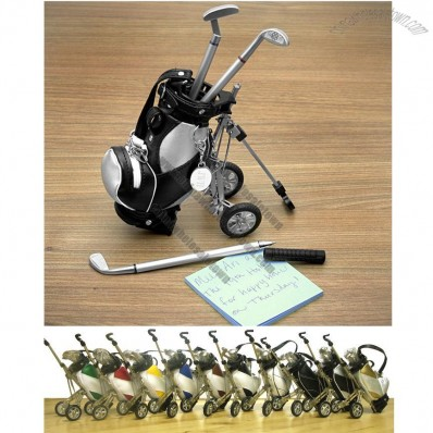 Golf Pens with Golf Bag Holder