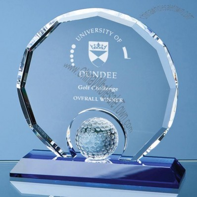 Golf Sports Award in Optical Crystal for Engraving