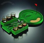 Golf Toy and Wine Cup Tray Set