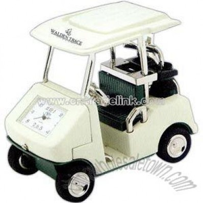 Golf cart clock