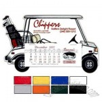 Golf cart shaped desk calendar