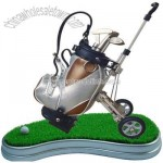 Golf penholder with clock and name holder