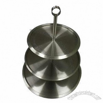 Good-Quality 3-Tier Stainless Steel Cake Stand
