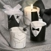 Gown and Tuxedo Design Candles Wedding Favors