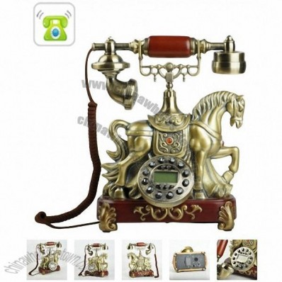 Grand Horse Sculpture Antique Telephone