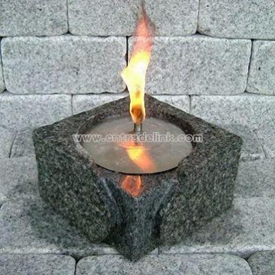 Granite Oil Lamp with Stainless Steel Cover
