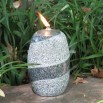 Granite Oil Lamp with Stainless Steel Oil Pot