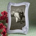 Graphic Heart Design Silver Picture Frames