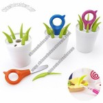 Grass Shaped Flowerpot Fruit Fork