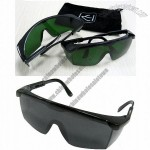 Gray/Green Lens Safety Glasses Black Frame
