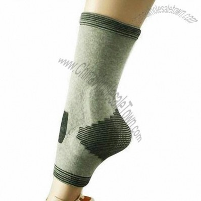 Gray Soft Elastic Ankle Support