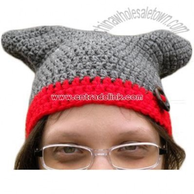 Gray square hat