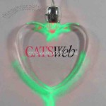 Green - Light up heart pendant necklace