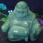 Green Advertine Laughing Buddha Statues in 3 Sizes