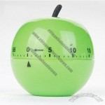 Green Apple Shaped Mechanical Countdown Kitchen Timer