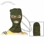 Green Camouflage Print 3 Hole Knitting Ski Mask Balaclaua for Men Women