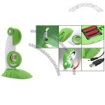 Green Desktop USB Parrot LED Lamp and Clock