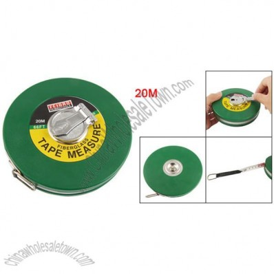 Green Plastic Shell Rotating Button Retractable Engineering Measuring Tape 20m/30m/50m