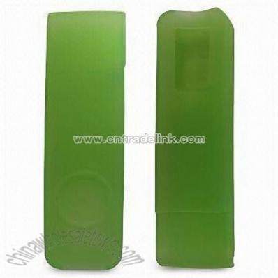 Green Silicone Case Apple iPod Shuffle