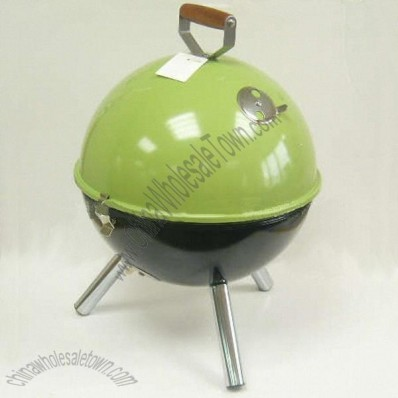 Green Small Round Charcoal BBQ Grills