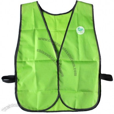 Green Supermarket Uniform Vest