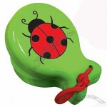 Green Wooden Castanet With Ladybug - Musical Educational Toy For Toddlers And Preschoolers