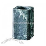 Green marble pen holder