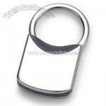 Grey Plastic / Nickel Plated Metal Key Chain