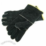 GrillPro Black Leather BBQ Gloves