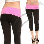 Grip Ladies Yoga Capri with Fold-Over Waistband in 2 Sizes and 7 Colors