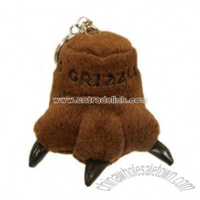 Grizzly paw key chain