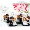 Groom and Bride Place Card Holder