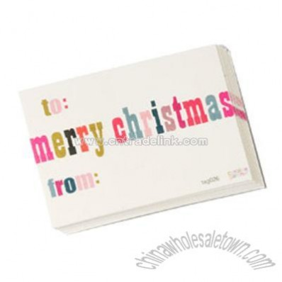 Groovy Merry Christmas Gift Tags