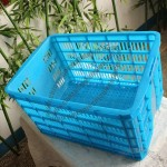 HDPE Plastic Crate, Square Plastic Basket, Plastic Shopping Basket
