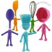 HEAD CHEFS Kid's Posable Silicone Kitchen Utensils