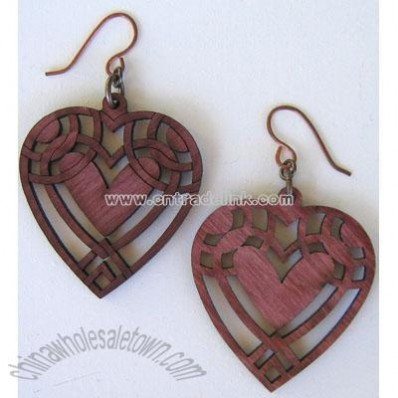 HEART Wood Earrings