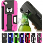 HHI Bottle Opener Card Wallet Case with Viewing Stand for iPhone 5